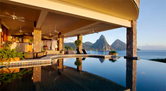 top all inclusive honeymoon suite in St Lucia
