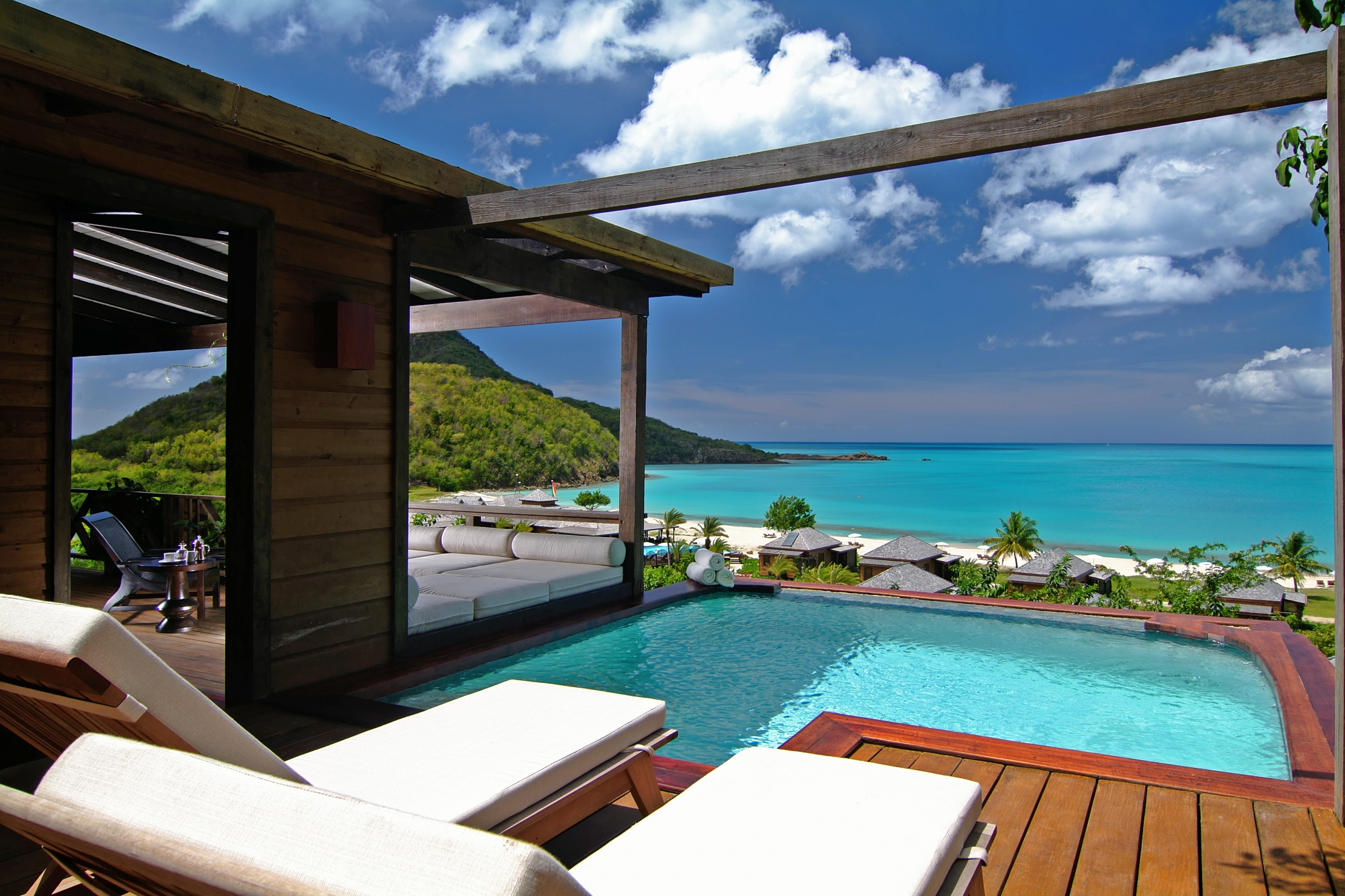 Antigua Honeymoon Hillside Cottage Plunge Pool And Deck