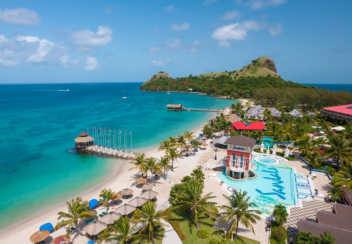 sandals honeymoon, grande st lucian
