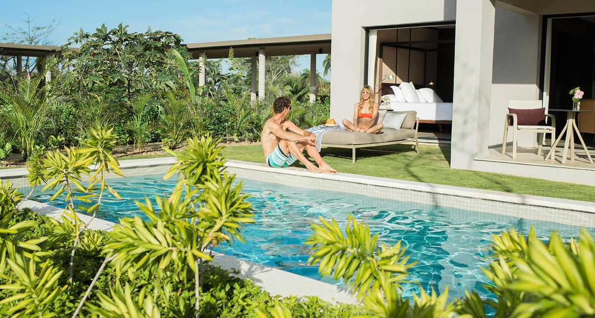 Excellence El Carmen honeymoon suite with private pool